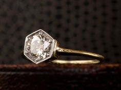 1920s 0.72ct Diamond Hexagonal Ring