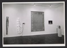 Installation view of the Bruce Nauman exhibition at the Leo Castelli Gallery, between 1968 Jan. 27 and Feb. 17 / Rudy Burckhardt, photographer. Leo Castelli Gallery records, Archives of American Art, Smithsonian Institution.