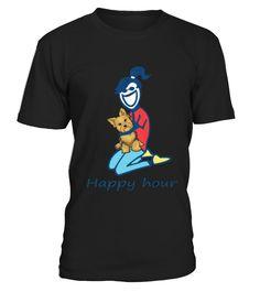 Top Shirt Yorkshire Terrier happy hour front