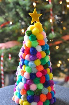 Pom Pom Christmas Tree - Christmas Craft