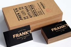 business cards for frank's moments & drinks by fbdi