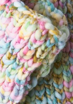 I love the colors in this yarn! And the texture looks amazing.