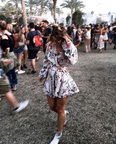 See Want Shop Blogger Lisa Hamilton | Coachella 17' floral dress |