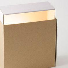 cardboard lamp light grey