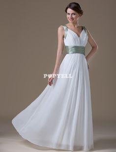 #robe #demoisellehonneur Robe a pali a col V avec mousseline de soie ivoire pour femme enceinte