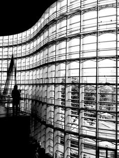 The National Art Center, Tokyo, Japan #architecture | black and white