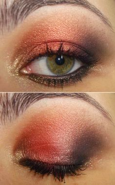 "MAC ""Coppering"" makes green and hazel eyes pop"