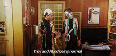 Community: Troy & Abed being normal... or just backup dancers in Sufjan Stevens' band