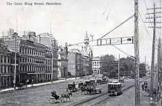 The Gore, King Street, Hamilton, Ontario Canada 1907 Hamilton Pictures, Hamilton Ontario Canada, Ottawa, Ancestry, New Pictures, Postcards, Street View, King, History