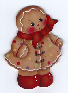 Little Miss Spice Gingerbread Painting by GingerbreadCuties