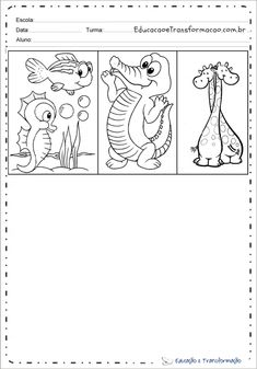 Desenho de animal para colorir e imprimir - Desenhos de animais Snoopy, Fictional Characters, Tame Animals, Small Animals, Predator, Gatos, Amphibians, Fantasy Characters