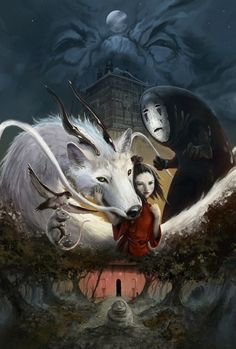 Wow. Cool SPIRITED AWAY illustration by  an unknown artist.