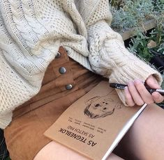 autumn, fashion, grunge, inspiration, instagram, pale, skirt, style, sweater, winter, aliencreature