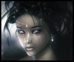 Black Gothic People | Bonita, 3D CG, abstract, beautiful, black, brown, cool, dark, face ...