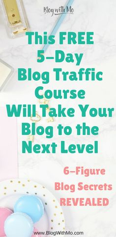 Free blog course teaching you blog tips to grow your blogging traffic and make money blogging. Go from idea to successful blogger in just 5 days