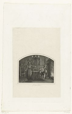 Jan Baptist Tetar van Elven   Herman de Ruiter eist het slot van de slotvoogd op, 1570, Jan Baptist Tetar van Elven, 1832 - 1834   Herman de Ruiter eist verkleed als monnik het Slot Loevestein van de slotvoogd op, 9 december 1570.