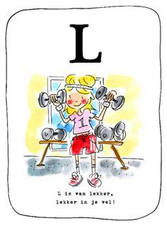 Alfabetkaart, L is van lekker- Greetz