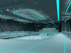 tron style club (interior) with Aleksandra Gromova by Nikita Voronov at Coroflot.com