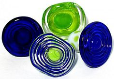 pretty glass knobs (made using make-a-knob mandrels etc.)