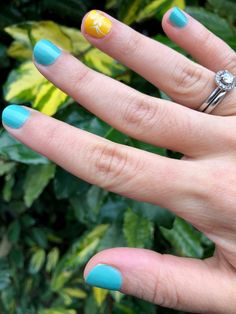 Giallo Napoli and Verde Pastello from the Chanel Neapolis Collection on nails