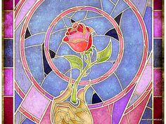 Beauty and the Beast - Rose Birthday Card on Behance