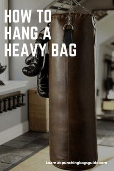 Do you have a heavy bag but do not know how to hang it? Here is the guide you need to install on the ceiling or other areas. #homegym #heavybag via @boxingathome