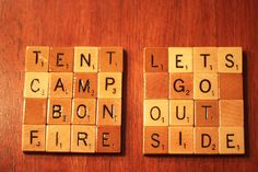 Scrabble Coasters with Recycled Wood Scrabble by COOLBOYCREATIONS