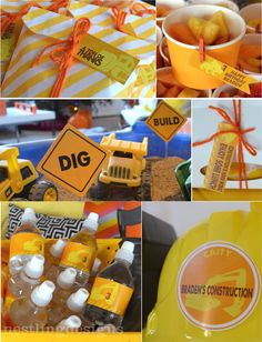 Personalized Construction Party Package by NestlingDesigns