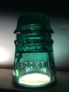 This is my green glass Brookfield insulator. It's cd number is 121.