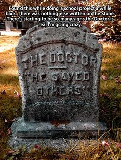 The Doctor is real...