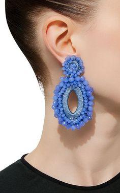 *M'O Exclusive* Beaded Drop Earrings by Bibi Marini