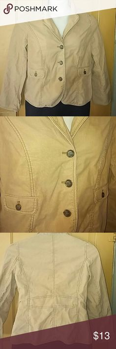 LOFT maternity jacket size 8 LQQK This blazer/jacket it's corduroy and tan in color...great condition LOFT Jackets & Coats Blazers