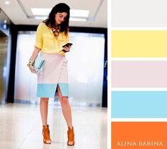 Fashion color idea | Colors combination | Wheel | Blue yellow orange pink