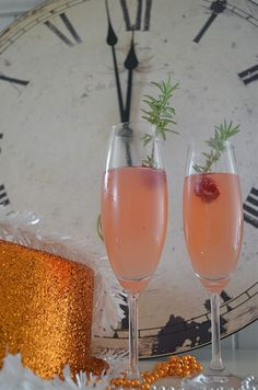 CranBerry Pear Champagne Cocktail  Happy New Year!