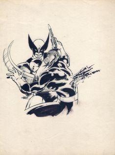 John Byrne - Wolverine Drawing