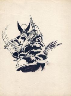 John Byrne - Wolverine Drawing from The Art of John Byrne , in ConstantN's John Byrne Comic Art Gallery Room