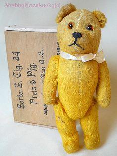 Antique German Schuco miniature teddy bear by ShabbyGoesLucky
