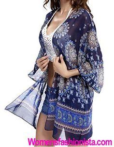 Taydey Women's Swimwear Light Floral Print Chiffon Kimono Cover up / Beach Dress Review - http://womensfashionista.com/taydey-womens-swimwear-light-floral-print-chiffon-kimono-cover-up-beach-dress-review/ #womensfashion #Beach, #Chiffon, #Cover, #Dress, #Floral, #Kimono, #Light, #Print, #Review, #Swimwear, #Taydey, #Womens, #WomensCoverUp