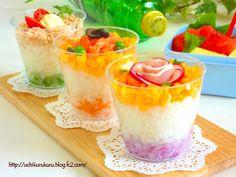 Chirashi Sushi in a Cup #OYSHEE #japanese