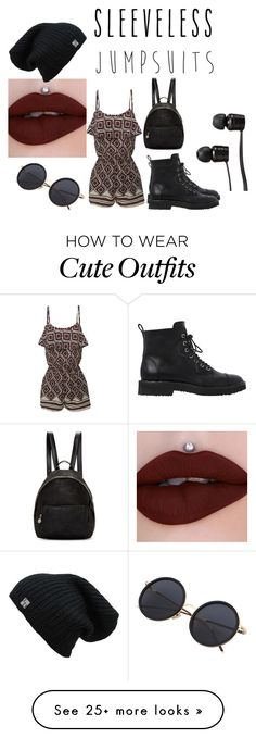 """""""cute sleeveless jumpsuit outfit"""" by polarbear786 on Polyvore featuring LE3NO, Giuseppe Zanotti, STELLA McCARTNEY, Vans and sleevelessjumpsuits"""