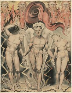 'The Expulsion of Adam and Eve from the Garden of Eden' William Blake's Mesmerizing Illustrations for John Milton's Paradise Lost – Brain Pickings William Blake Art, John Milton Paradise Lost, Lost Paradise, John Adams, Adam Et Eve, Isaac Asimov, Heaven And Hell, Art Database, Poet