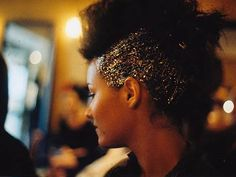 glitter fauxhawk  -i wanna do this