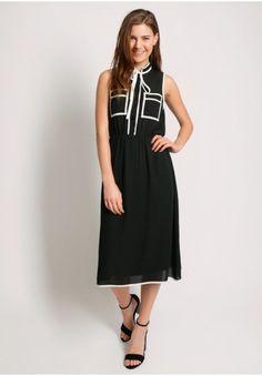 Apple Valley Neck-Tie Dress  at shopruche.com