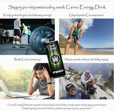 Canna Energy Drink to wyjątkowy napój energetyczny o niepowtarzalnym smaku konopi. Ten idealnie dobrany smak uzyskali specjalnie dla nas certyfikowani technolodzy żywności, którzy dołożyli wszelkich starań, aby aromat, kolor, a przede wszystkim smak był najlepszym odzwierciedleniem smaku konopi sativa l. Przez wysoką zawartość kofeiny, chętnie spożywany przez sportowców jak i osoby, które potrzebują dodatkowej dawki energii. . Napój dostępny w naszym sklepie !!