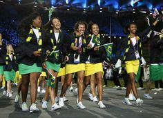 London 2012 Olympics Opening Ceremony Brazil's outfits are cute I would wear