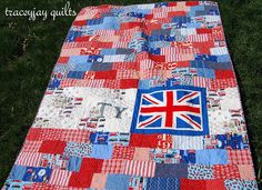 Union Jack quilt by traceyjay  Free Union Jack block pattern