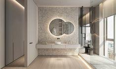 Interior Design Around Walnut Wood Finishes: 3 Great Examples House Design, Interior Design, Bathroom Interior Design, Amazing Bathrooms, Interior, Bathroom Design, Mirror, Bathroom Mirror, Trendy Bathroom Tiles