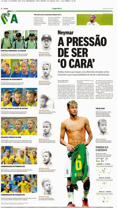 Another huge round up of World Cup infographics from newspapers Neymar Jr, Good Soccer Players, Football Players, Top Soccer, Love You Babe, National Football Teams, World Cup 2014, Soccer Training, Best Player