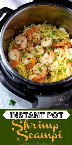 This Instant Pot Shrimp Scampi is really expedite. ~ Please click through to read ~ Instant Pot Ribs Pasta Recipes, Beef Recipes, Chicken Recipes, Cooking Recipes, Cooking Tips, Shrimp Recipes, Cooking Classes, One Pot Recipes, Soup Recipes