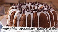 Pumpkin-chocolate pound cake | Cooking at Home